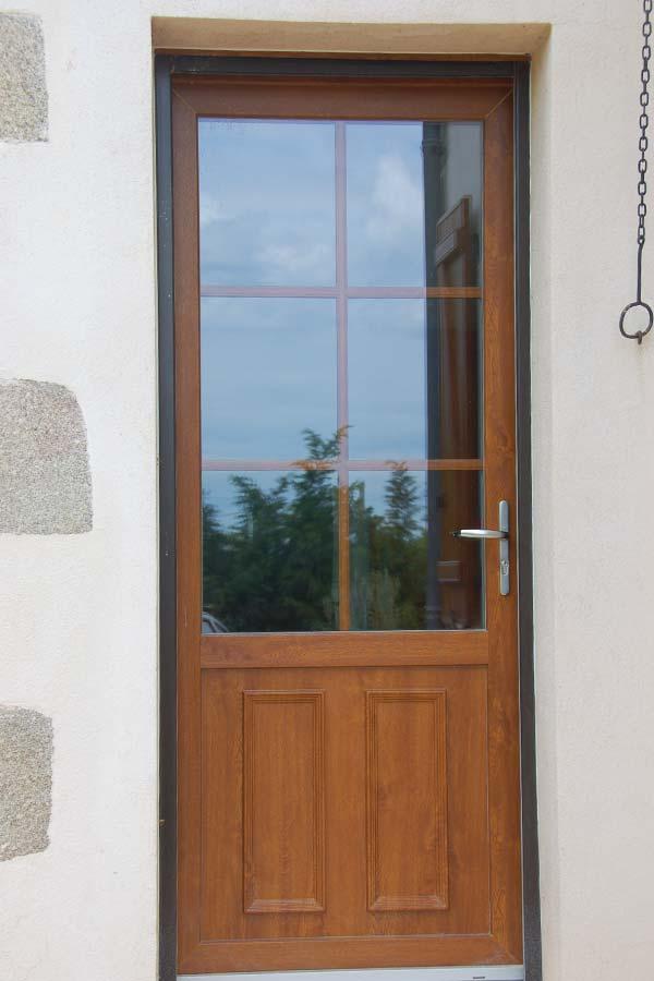 Porte aluminium imitation bois